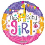 "BABY GIRL BALLOON  18"" 19727-18"